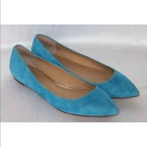 Banana Republic Teal Suede Pointed Ballet